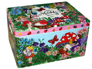 hand painted toy boxes now available